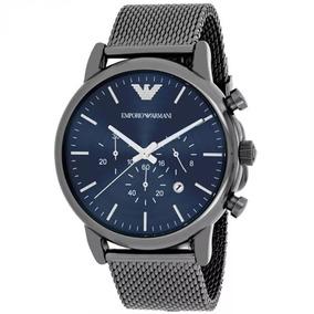 8cb0414c2c2 Relogio Masculino Prata Com Chumbo Emporio Armani - Relógios De ...