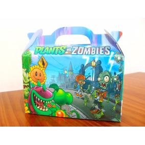 Plants Vs Zombies - Cajita Golosinera (pack X40 Valijitas)