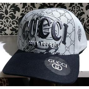 Gorra Trucker Lona Gucci Black   Grey Guccify - Ajustable 02ac6100ab4