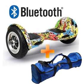 Skate Elétrico 10 Pol Overboard Bluetooth Hoverboard + Bolsa