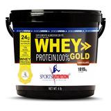 Balde De Whey Protein 100% Gold Concentrada - 1,815kg
