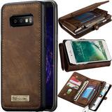 Capa Case Flip Carteira Couro Galaxy S10 Plus 2 Em 1 Premium