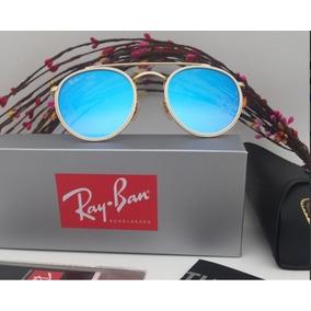 a2c36fc6b3296 Oculos Feminino Round Espelhado Azul - Óculos De Sol no Mercado ...