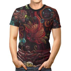 Camiseta Básica 3d Full Unissex Roupa Psicodélico Organismos