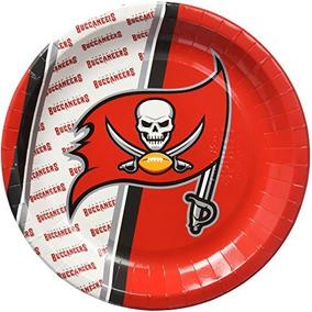 Placa De Papel Desechable Nfl Tampa Bay Buccaneers (paquete