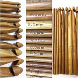 Agujas De Crochet De Bambu X 12 Unidades Tejer Amirgurumis