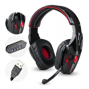 Headset Usb Fone + Microf. Gamer Knup Kp-358-pc/ps3/ps4