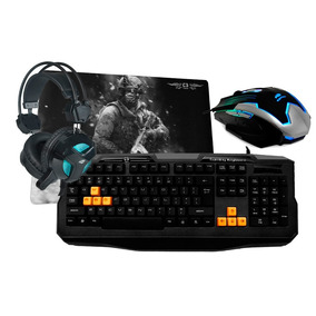 Kit Gamer Blackbird One - Teclado + Fone + Mouse + Mouse Pad