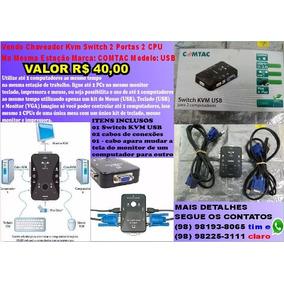 Kvm 2 Portas Chaveador Switch Barato