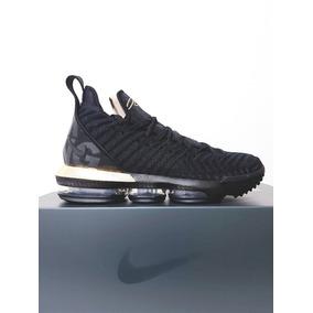 82f3d9fde55 Tênis Nike Lebron Xvi Flyknit Basquete Original Preto N. 41
