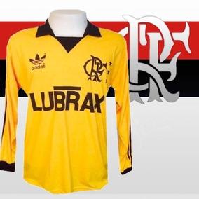 Camisa Retrô Flamengo Goleiro Lubrax Amarela Ml ec2ac2c88be06