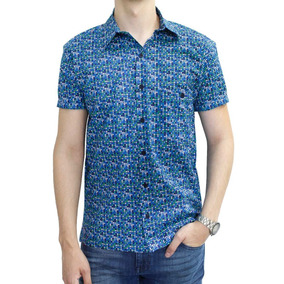 Camisa M/c Estampado Triangs-circs