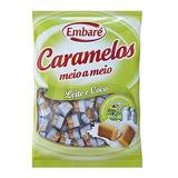 1 Pacote Caramelos Meio A Meio - Leite E Coco - Embaré 660g