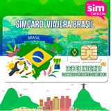 Chip Sim Card Prepago Brasil Internet 4g Lte