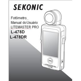 Manual Em Português Sekonic L-478 Dr Pro