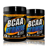 Combo 2x Bcaa Atomic 4:1:1 200g - Lauton Nutrition Original