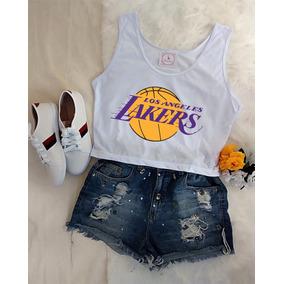 Blusa Camiseta Feminina Basquete Los Angeles Lakers Barato! 9af59b4243c67