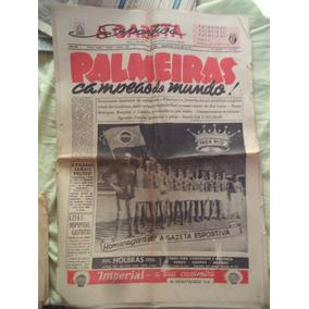 Palmeiras Campeão Mundial De 1951 Jornal Gazeta Esportiva