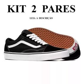 Kit Com 2 Pares Tenis Feminino Masculino Vans Promoção