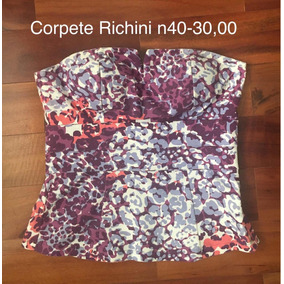 Roupas Femininas Corpete Richini N 40