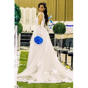 Lindo Vestido De Noiva + Super Brindes!! Oferta