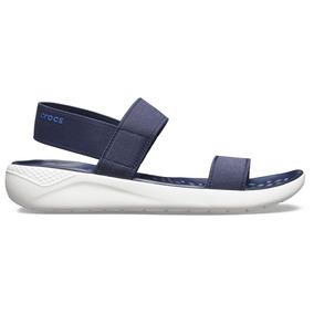 Crocs Literide Sandal Navy/white - Crocs Uruguay