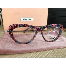 Oculos Miu Miu Preto Armacoes - Óculos no Mercado Livre Brasil 0f95639ebd