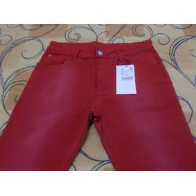 Calça Casual Zara Man Tamanho 40 Vermelha Novo Com Sacola