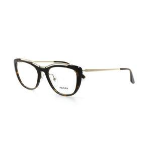 Óculos De Grau Prada 04v T 53 C 2au1o1 Feminino Marrom fb33bb910c