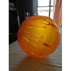Bola Caminadora Color Naranja Traslúcido Para Hamster