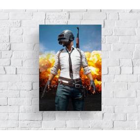 Quadro Poster Mdf Playerunknown