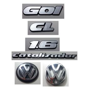 Kit Emblema Volks Gol Catalisador 1.6 Gl Vw Mala Grade 90/97