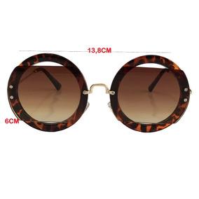 Oculo Miu Miu Redondo Marrom De Sol - Óculos no Mercado Livre Brasil f5c723b23b