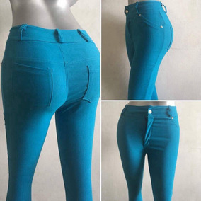 Jean Pantalon Chicle Super Stretch Corte Alto
