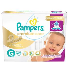 Fralda Pampers Premium Care G 40 Tiras