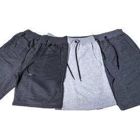Shorts Moleton Masculina Bermuda Academia Esporte Treino C/3