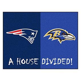 Fanmats 18573 Nfl House Divided Patriots Ravens House Divi