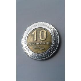 Moeda Uruguaia 10 Pesos Ano *2000* Com Asterisco Gen.artigas