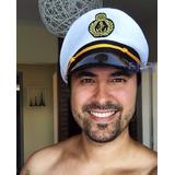 Chapéu Quepe Capitão Marinha Marinheiro Fantasia Festa Li@