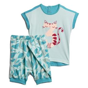 Conjunto adidas Summer Pantalón Camiseta Para Niña