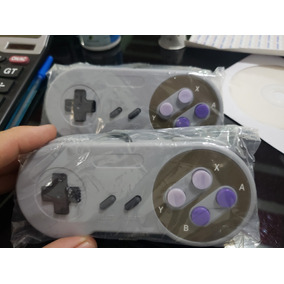 Kit 4 Controles Super Nintendo Usb Snes Botões Color Pc Mac