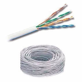 Bobina De Cable Utp 5e Solido 75% Cobre Color Blanco 305 Mts