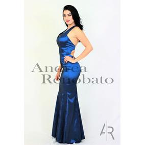 9d64c2861e Vestido De Fiesta Azul Petroleo - Vestidos en Mercado Libre México