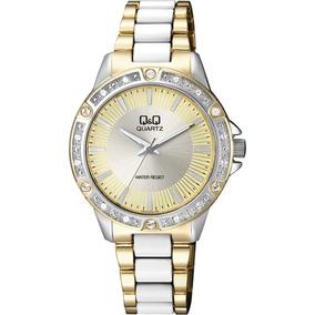 Reloj Q&q Dama. Resistente Al Agua. F533j400y