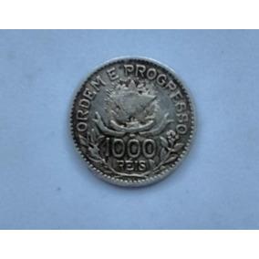 Moeda - 1000 Réis - Brasil 1913 - Prata - Estrelas Soltas
