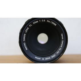 Lente Canon Macro 50 Mm 3.5 . Montura Fd .
