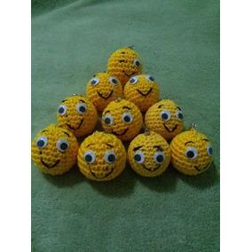 Chaveiros Emoticons Feitos De Croche