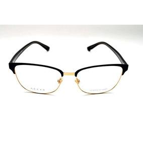 083efd8da Óculos De Grau Gucci Gg4272 Preto Dourado Metal E Acetato