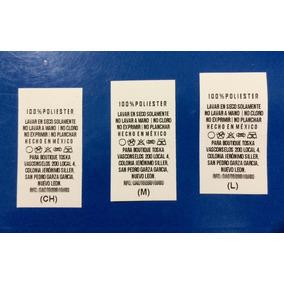 Etiquetas Para Ropa / 200 Piezas / Nylon Premium / Etiquetas