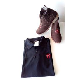 Conj Bota Botina Mangalarga + Camisa Polo Mm Envio Grátis